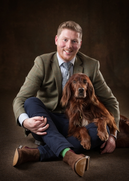 Red setter dog and family pet studio portraits Ni Riain Photography Tipperary ireland