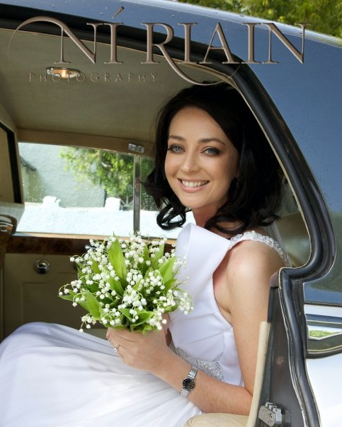 Sarah Jane O'Callaghan arrivng at Cratloe Church