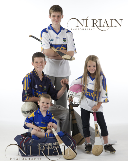 Family Portrait - Tipperary Hurling Fans studio portrait