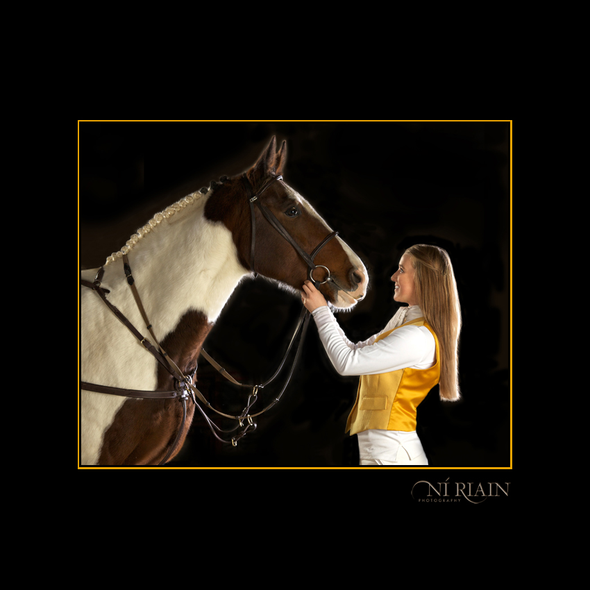 Hunting Horse & young rider Equine portrait by Ni Riain Photography