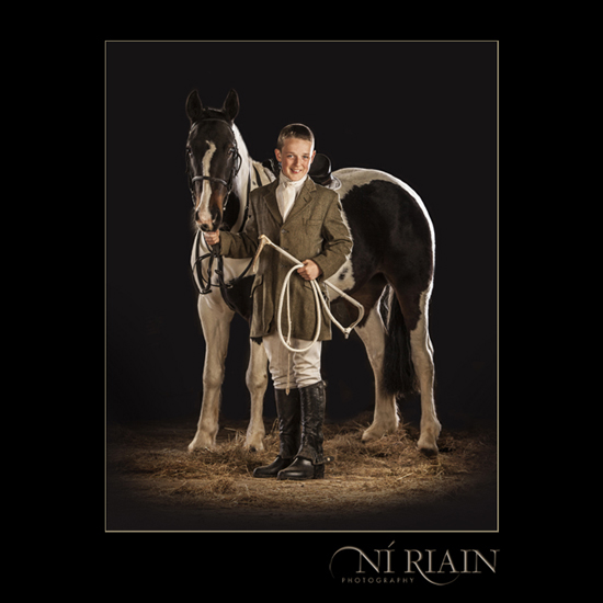 Coloured Horse & Hunting Whip - Horse photographer Equine Photog