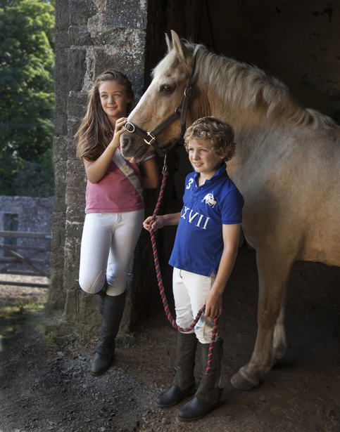 Pony Clubbers Brother and Sister with their Horse in Coolrain Co