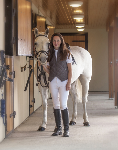 Showjumping rider and her showjumping pony stables Trim Co. Meat