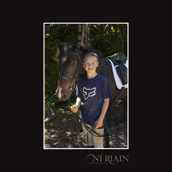Young boy and pony Equine Photography by Ni Riain Photogaphy