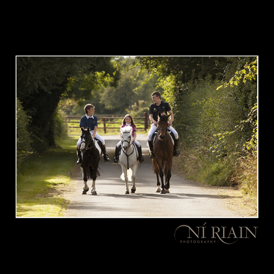 Young family Tipperary equine photo shoot by Ni Riain Photograph