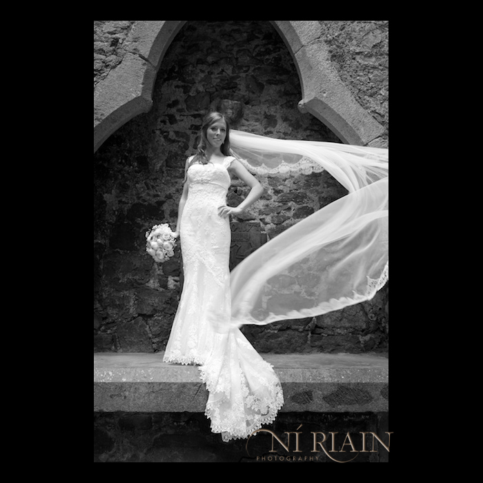Black and White Creative Wedding photography Cashel Tipperary Ireland Dundrum House Hotel photographers Ni Riain photography