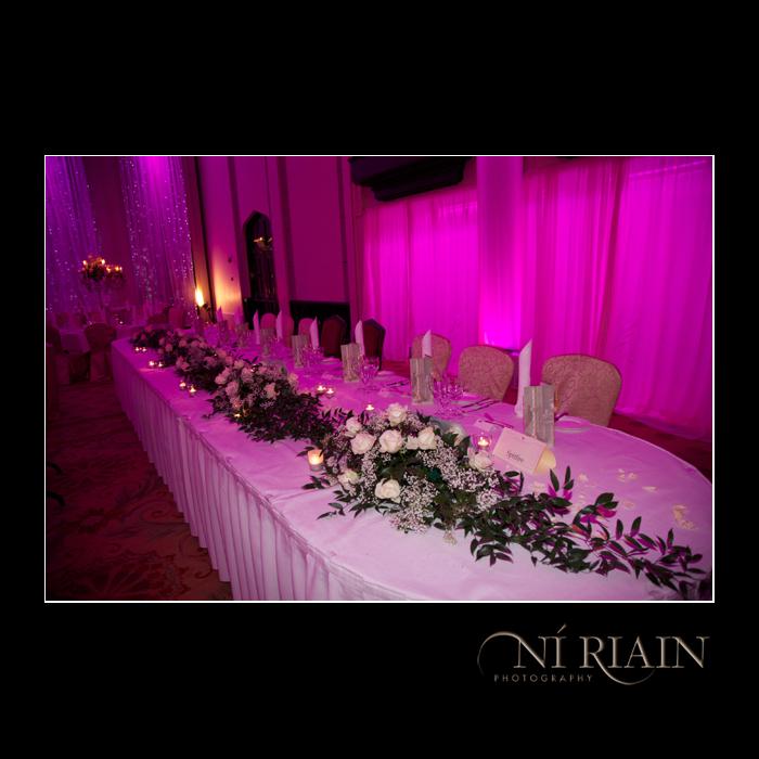 Wedding Top table Dromoland Castle