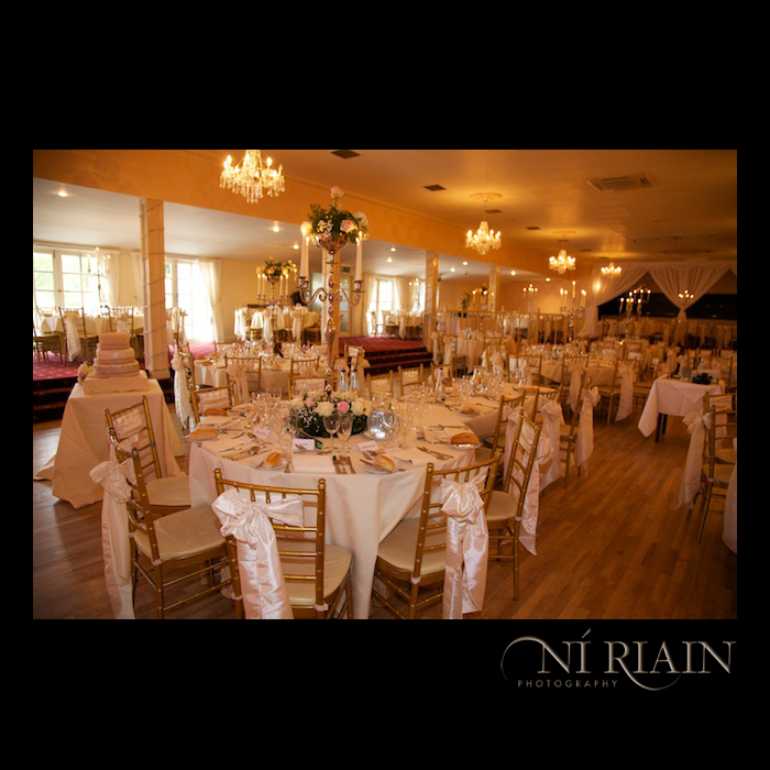 Wedding venue function room Dundrum House Hotel Tipperary Ireland Wedding photographers Ni Riain photography