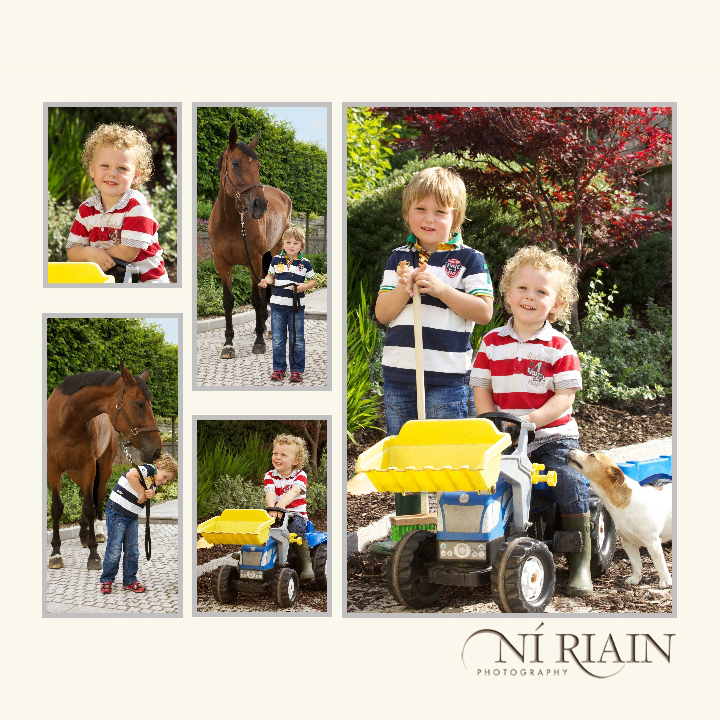 Grandchildren in garden Ni Riain photography