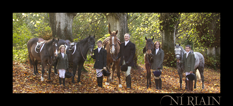 Hunting horses and riders Family portrait Ireland The Horse Phot