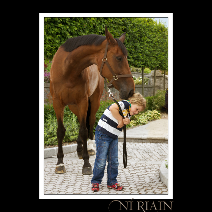 Outdoor portrait of young boy in garden Ni Riain photography